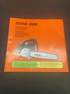 GENUINE NOS STIHL 066 O66 Chainsaw Instruction Manual/Owner's Manual NOT A COPY!