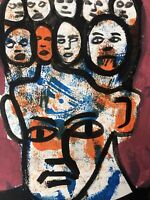 Hasworld original Abstract Expressionist Signed,Street Pop,contemporary Kunst