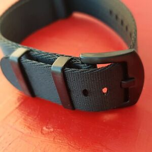 NATO Strap James Bond Armband 20 mm schwarz PVD Schliesse watch 007 # 8651