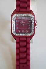Fashion Colorful Jelly Silicone Rhinestone Girl's,Women's Casual Wrist Watch