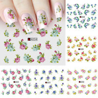 1 × Water Transfer Nail Art Sticker Rose Flower Decal Decor DIY Manicure Tip