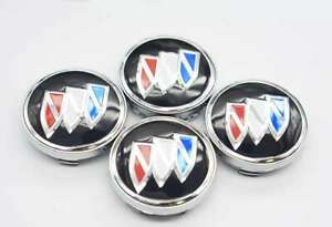 4x 60mm For Buick Car Logo Wheel Rim Center Covers Hub Caps Badges Auto Styling