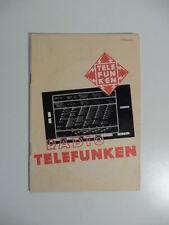 Radio Telefunken, Catalogo 1937, radio balilla, radio d'epoca
