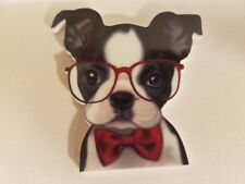 Flat Back Resins (Lot of 2 for $1.50) Boston Terrier Dog Breed Glasses Puppy