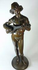 """PAUL DUBOIS """"la Chanteur Florentin"""" extrêmement fines bronze, signé, daté 1865"""