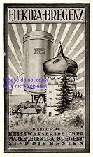 Boiler Elektra Bregenz Reklame 1929 Heisswasserspeicher Zwiebelturm Österreich +