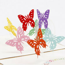 3D Pop Up Card Butterfly Happy Anniversary Birthday Valentine Christmas