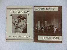 Lot of 2 NEW YORK MAGAZINE PROGRAMS Grand Hotel Third Little Show 1931