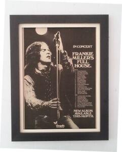 FRANKIE MILLER*FULL HOUSE*Tour*1977*ORIGINAL*POSTER*AD*FRAMED*FAST WORLD SHIP