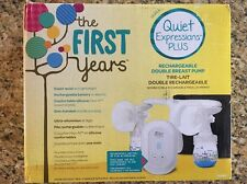 The First Years Quiet Expressions Plus Rechargeable Double Breast Pump