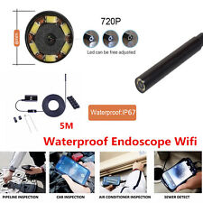 6LED Waterproof WiFI Borescope Inspection Endoscope CMOS Camera For iOS Andriod