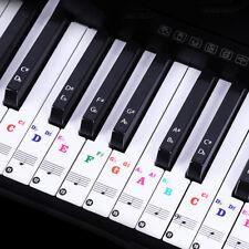 Elektrisches Klavier Keyboard Noten-Aufkleber 37 49 88 61 54 Piano Sticker