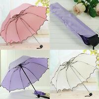 Ausverkauf Sun / Regen Regenschirm Damen Kompakt Faltbar Windfest Anti-uv