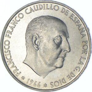 Better Date - 1966 Spain 100 Pesetas - SILVER *565