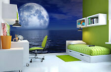 Night Blue Moon Wall Mural Photo Wallpaper GIANT DECOR Paper Poster Free Paste
