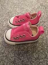 Baby Girl Pink Converse Trainers Shoes UK Size 2