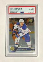 2016 Upper Deck Connor McDavid SILVER FOIL PSA 10 Low Pop 5, card #75 2nd year