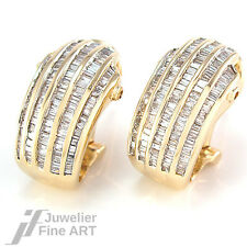 Clipstecker mit Diamant-Baguettes ca. 3 ct W-si in 14K Gelbgold - 9,8 g
