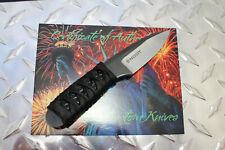 NEW Snody Custom Rocky Moutain Ninja Elite Alligator Knife 154CM Leather Sheath