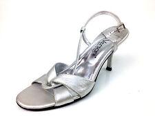 "Versani ""Argento"" Silver Heels  Womens US Size 6 B"