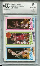 1980 Topps Basketball Larry Bird Magic Johnson Rookie Card Beckett Graded BCCG 9