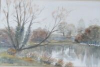 Original Watercolour of Stratton Audley, Bicester  by Muriel Pocock. Unframed.