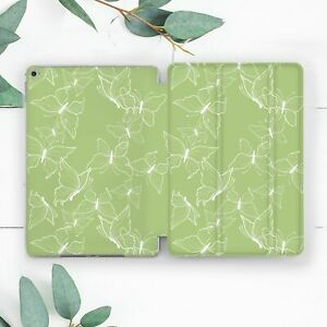 Line Art Butterfly Green Case For iPad 10.2 Pro 12.9 10.5 9.7 Air 3 Mini