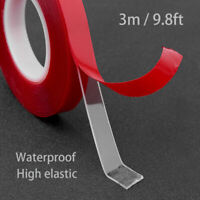 300cm Transparent Silicone Double Sided Tape Sticker Strength For Car High J7E2