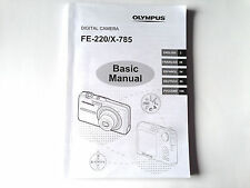OLYMPUS FE-220 X-785 DIGITAL CAMERA BASIC MANUAL