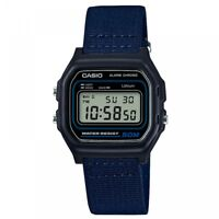 Casio W-59B-2AVEF Casual Digital Watch with Black Case & Blue Cloth Strap