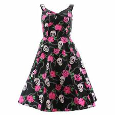 H&R London Kleid SKULLY PINK ROSES DRESS 2022