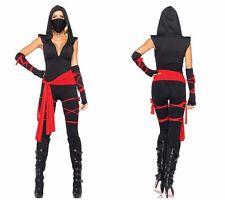 Masked Warriors Women Halloween Pirate Clothes Black Ninja Suits