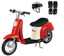 Razor Pocket Mod Euro 250W Electric Kids Scooter w/ Helmet & Safety Pads, Red
