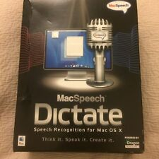 MAC SPEECH DICTATE SPEECH RECOGNITION SOFTWARE FOR MAC OS X COMPUTERS