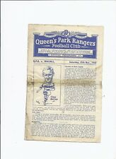 Queens Park Rangers v Walsall 15 November 1947 Four Page