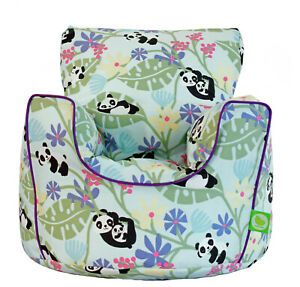Cotton Purple Panda Bean Bag Arm Chair with Beans Child Teen size From Bean Lazy