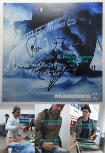"""Richard Kruspe Paul Landers Flake Signed Rammstein ROSENROT 12"""" Album Photo JSA"""