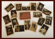 Vintage Italian Gallery Of Paintings Mini Postcards-Set Of 18 - Unposted  (A447)