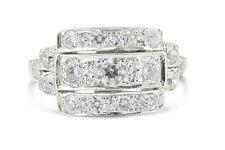 Art Deco Old Cut Diamond Ring 1.20ct 18Carat White Gold