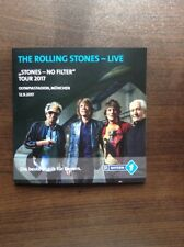 Rolling Stones Olympiastadion München 2017 Booklet No Filter Tour