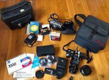 Minolta Maxxum 7000 and Hi Matic F Cameras- Lenses Filters LOT