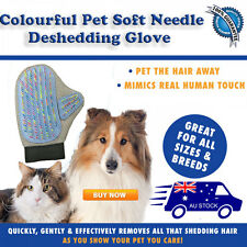 Colourful needle Deshedding Magic Brush Glove Pet Dog Cat Massage Grooming  Wash