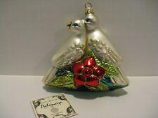 New ListingVintage Kurt Adler Polonaise Komozja Turtle Doves Glass Christmas Ornament