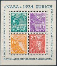 Suiza - Hojas bloque- Año: 1934 - numero 00001 - NAVA / Muy bonita **