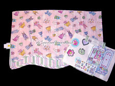 Waverly Kids Curtain Valance and Wall Decals Set Pink Dress-up Theme
