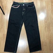 ENYCE ELEPHANT POLO JEANS MEN'S STRAIGHT LEG BLACK DENIM JEANS SIZE 38 Z02-22
