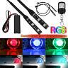 Universal RGB Demon Eye LED + RF Remote For Car Bike Headlights Projector Retrof