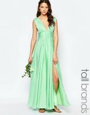 Fame and Partners Tall Valencia Maxi Dress with Cut Out Back Mint Size 8 RRP £95