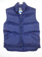 Vintage Antler Navy Blue DownFeathers Vest Puffy Winter Size S