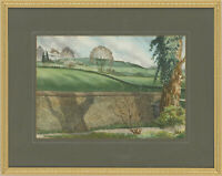 Chic D. Jack - Mid 20th Century Watercolour, Liddington Hill